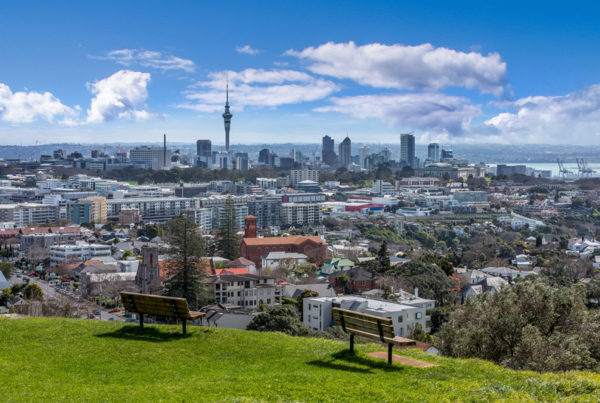 View from the One Tree Hill over Auckland